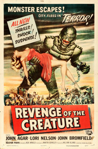 "Revenge of the Creature (Universal International, 1955). One Sheet (27"" X 41"") Reynold Brown Artwork"