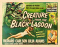 "Movie Posters:Horror, Creature from the Black Lagoon (Universal International, 1954).Half Sheet (22"" X 28"") Style A, Reynold Brown Artwork.. ..."