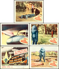"Movie Posters:Science Fiction, Earth vs. the Flying Saucers (Columbia, 1956). Title Lobby Card& Lobby Cards (4) (11"" X 14"").. ... (Total: 5 Items)"