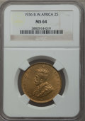 British West Africa, British West Africa: British Colony. George V 2 Shillings 1936 MS64NGC,...