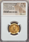 Ancients:Roman Imperial, Ancients: Theodosius II (AD 402-450). AV solidus (4.51 gm). NGCChoice AU 5/5 - 4/5....