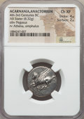 Ancients:Greek, Ancients: ACARNANIA. Anactorium. Ca. 454-404 BC. AR stater (8.32gm). NGC Choice XF 4/5 - 2/5....