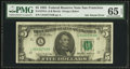 Error Notes:Ink Smears, Fr. 1978-L $5 1985 Federal Reserve Note. PMG Gem Uncirculated 65EPQ.. ...