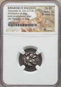 Ancients:Greek, Ancients: MACEDONIAN KINGDOM. Alexander III the Great (336-323 BC).AR drachm (4.08 gm). NGC Choice XF 4/5 - 3/5....