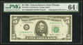 Error Notes:Mismatched Serial Numbers, Fr. 1978-G $5 1985 Federal Reserve Note. PMG Choice Uncirculated 64 EPQ.. ...