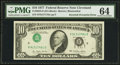 Error Notes:Inverted Third Printings, Fr. 2023-D $10 1977 Federal Reserve Note. PMG Choice Uncirculated64.. ...