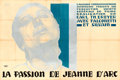 "Movie Posters:Drama, The Passion of Joan of Arc (L'Alliance CinematographiqueEuropeenne, 1928). French Double Grande (62.5"" X 93.75"") Jean A.Me..."