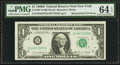 Fr. 1907-B $1 1969D Federal Reserve Note. PMG Choice Uncirculated 64 EPQ