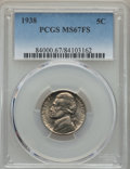 Jefferson Nickels, 1938 5C MS67 Full Steps PCGS....