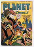 Golden Age (1938-1955):Science Fiction, Planet Comics #27 (Fiction House, 1943) Condition: ApparentGD/VG....