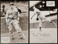 Autographs:Post Cards, Carl Hubbell & Mickey Owen Signed Post Cards. ...