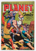 Golden Age (1938-1955):Science Fiction, Planet Comics #28 (Fiction House, 1944) Condition: FN-....