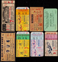 Baseball Collectibles:Tickets, 1936-60 World Series & All Star Ticket Stub Collection (8). ...