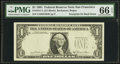 Error Notes:Third Printing on Reverse, Fr. 1911-L $1 1981 Federal Reserve Note. PMG Gem Uncirculated 66 EPQ.. ...