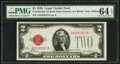 Error Notes:Obstruction Errors, Fr. 1501 $2 1928 Legal Tender Note. PMG Choice Uncirculated 64EPQ.. ...