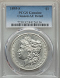 Morgan Dollars: , 1895-S $1 -- Cleaning -- PCGS Genuine. AU Details. NGC Census: (61/1064). PCGS Population: (126/1804). CDN: $1,300 Whsle. B...