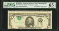 Error Notes:Inverted Third Printings, Fr. 1980-I $5 1988A Federal Reserve Note. PMG Gem Uncirculated 65EPQ.. ...