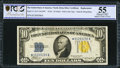Small Size:World War II Emergency Notes, Fr. 2309* $10 1934A North Africa Silver Certificate. PCGS About Unc 55.. ...