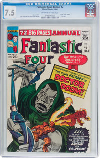 Fantastic Four Annual #2 (Marvel, 1964) CGC VF- 7.5 Off-white to white pages
