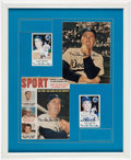 Autographs:Others, Duke Snider Signed Picture Display - 4 Autographs. ...