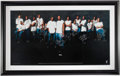 Basketball Collectibles:Others, 2001-02 Miami Heat Team Signed Oversized Frame (15 Signatures)....