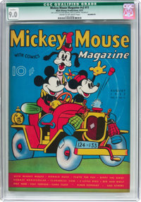 Mickey Mouse Magazine V2#11 (K. K. Publications/Western Publishing Co., 1937) CGC Qualified VF/NM 9.0 Cream to off-white...