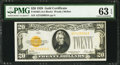 Small Size:Gold Certificates, Fr. 2402 $20 1928 Gold Certificate. PMG Choice Uncirculated 63 EPQ.. ...