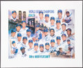 Autographs:Photos, 1969 New York Mets 30th Anniversary Team Signed Lithograph....