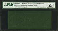 Fr. 1915-E $1 1988A Federal Reserve Note. PMG About Uncirculated 55 EPQ