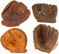 Baseball Collectibles:Others, Vintage Store Model Gloves - Norm Cash (2), Johnny Sain, & DickMcAuliffe....