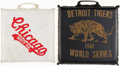 Baseball Collectibles:Others, Chicago White Sox Signed Seat Cushion Plus 1968 Detroit Tigers SeatCushion....