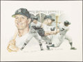 Autographs:Photos, 1984 Mickey Mantle Signed Lithograph....