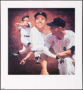 Autographs:Photos, Mickey Mantle Signed Lithograph....
