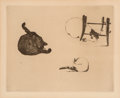 Fine Art - Work on Paper:Print, Édouard Manet (1832-1883). Les chats, 1868-69. Etching andaquatint on laid paper. 7 x 8-3/4 inches (17.8 x 22.2 cm) (im...