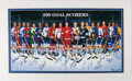 Hockey Collectibles:Others, 500 Goal Scorers Signed Ron Lewis Lithograph (15 Signatures). ...