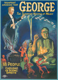 General Americana, A Color Poster Advertising George, The Supreme Master of Magic,circa 1920s. 26-3/4 x 20 inches (67.9 x 50.8 cm). ...