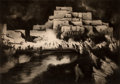 Fine Art - Work on Paper, Gene Kloss (American, 1903-1996). Pueblo Firelight Dance,1952. Drypoint and aquatint. 11-3/4 x 16-5/8 inches (29.8 x 42...