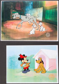 Miscellaneous Collectibles:General, Walt Disney Cartoon Cell Serigraphs Pair (2). ...