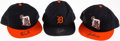 Baseball Collectibles:Hats, Detroit Tigers Signed Cap Lot of 3 - Parrish, Trammell andJones....