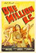 "Movie Posters:Fantasy, One Million B.C. (United Artists, 1940). One Sheet (27"" X 41"")....."