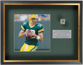 Football Collectibles:Others, Aaron Rodgers Framed Replica Championship Ring Display. ...