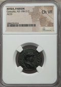 Ancients:Roman Provincial , Ancients: MYSIA. Parium. Caracalla (AD 198-217). AE 23 mm. NGCChoice VF....