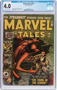 Marvel Tales #107 (Atlas, 1952) CGC VG 4.0 Cream to off-white pages