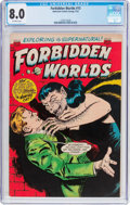 Golden Age (1938-1955):Horror, Forbidden Worlds #15 (ACG, 1953) CGC VF 8.0 Off-white pages....