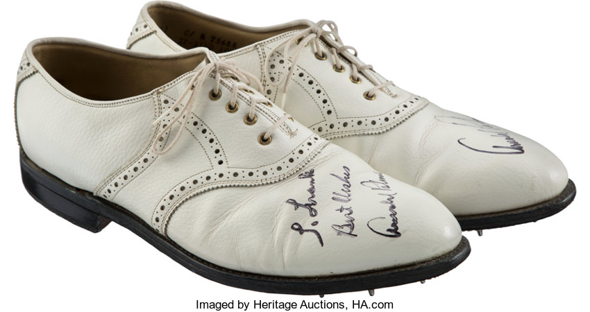 3b83dea320a725 1970 s Arnold Palmer Match Worn   Signed Golf Shoes. ... Golf