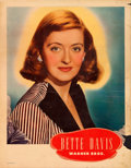 "Movie Posters:Miscellaneous, Bette Davis Personality Poster & Other Lot (Warner Brothers,Late 1930s). Linen Finish Personality Posters (2) (22"" X 28"")....(Total: 2 Items)"