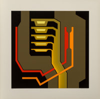 Yves Millecamps (French, b. 1930) Untitled II, circa 1979 Serigraph in colors 31 x 31 inches (78