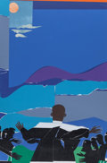 Prints & Multiples, Romare Howard Bearden (1911-1988). Martin Luther King Jr. - Mountain Top, 1968. Screenprint in colors. 29-3/4 x 19-5/8 i...
