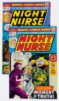 Bronze Age (1970-1979):Adventure, Night Nurse #2 and 4 Group (Marvel, 1973) Condition: Average VF.... (Total: 2 Comic Books)