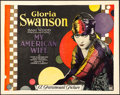 "Movie Posters:Romance, My American Wife (Paramount, 1922). Title Lobby Card (11"" X 14"")....."